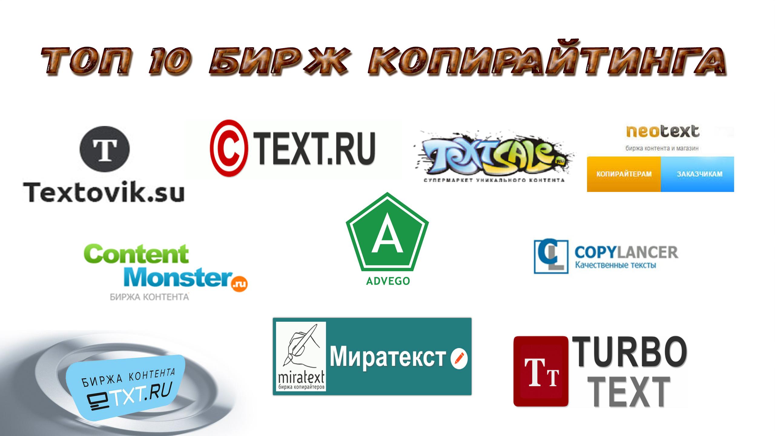 ТОП -10 лучших бирж копирайтинга и контента