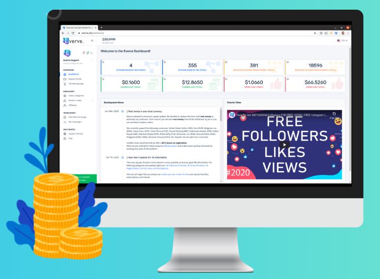 Обзор и отзывы платформы социального продвижения Everve.net.
