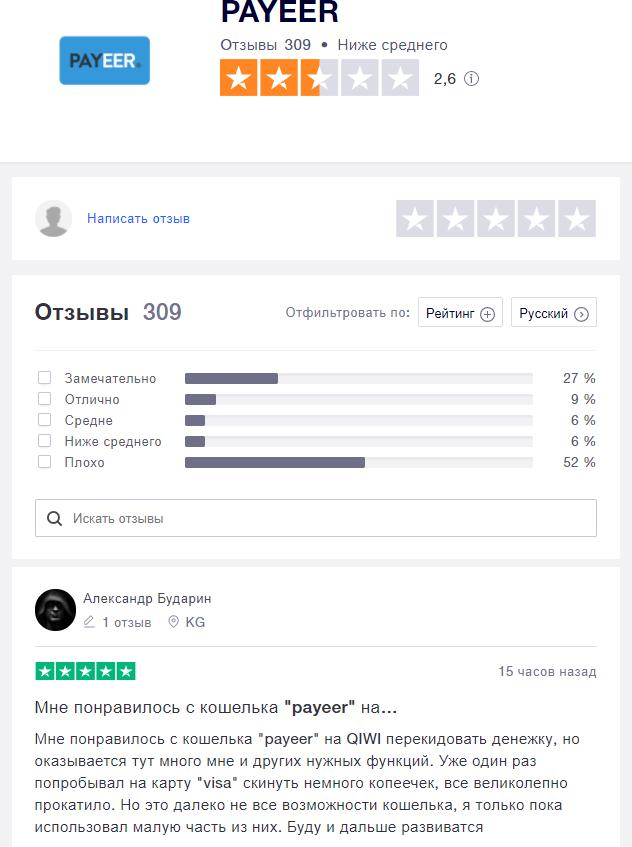 Отзыв с Trustpilit